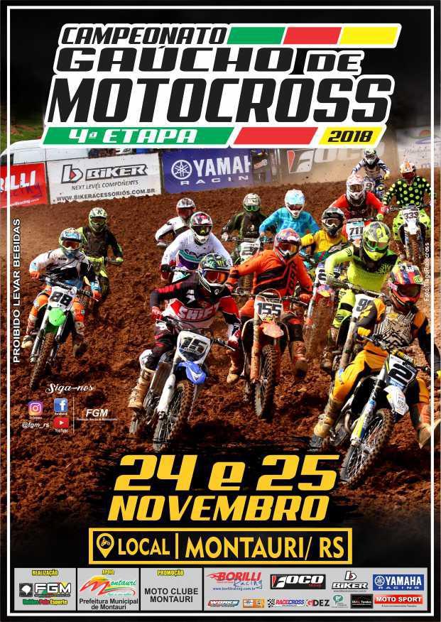 Montauri recebe a 4ª etapa do Gaúcho de Motocross 2018