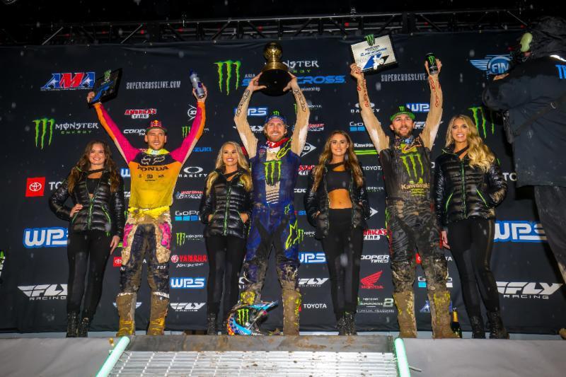 Justin Barcia vence o 2019 Monster Energy Supercross Anaheim Opener , Colt Nichols é o primeiro a ganhar na categoria 250SX