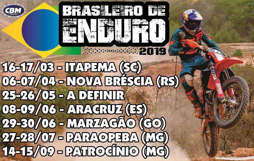 Campeonato Brasileiro de Enduro FIM começa esse final de semana16 e 17 de Março