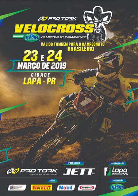 No próximo final de semana, dias 23 e 24/março, abre o Brasileiro de Velocross 2019, na cidade da LAPA/PR.