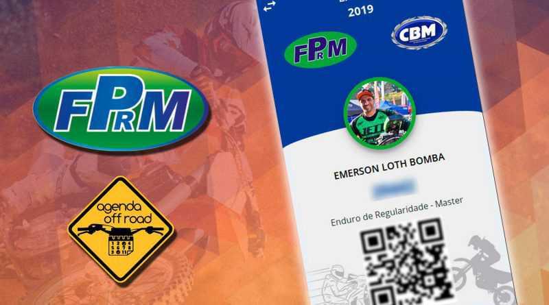 FPRM e Agenda Off Road desenvolvem carteirinha digital para atletas