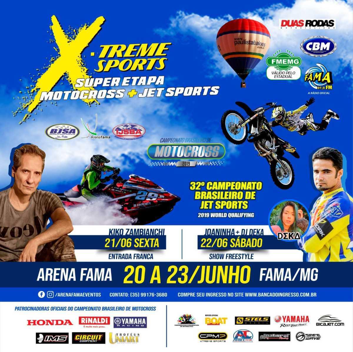 4ª etapa do BRMX será realizada junto com Campeonato Brasileiro de Jet Ski