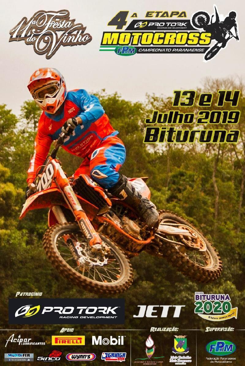 Campeonato Pro Tork Paranaense de Motocross pronto para invadir Bituruna