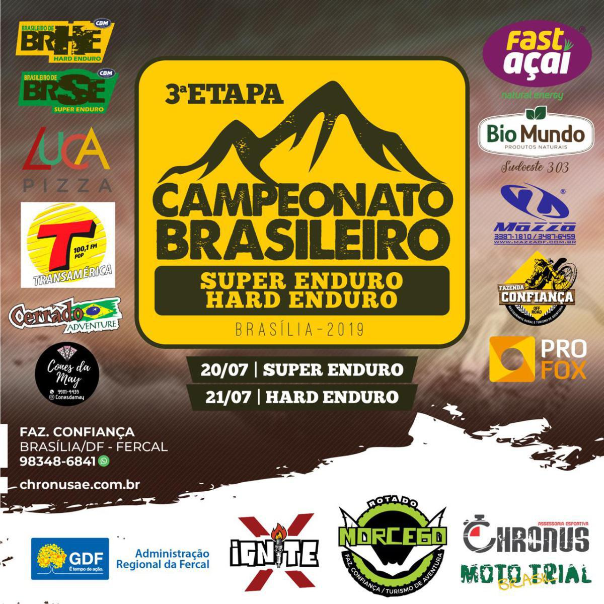 3ª etapa do Campeonato Brasileiro Super e Hard Enduro será em Brasília (DF)