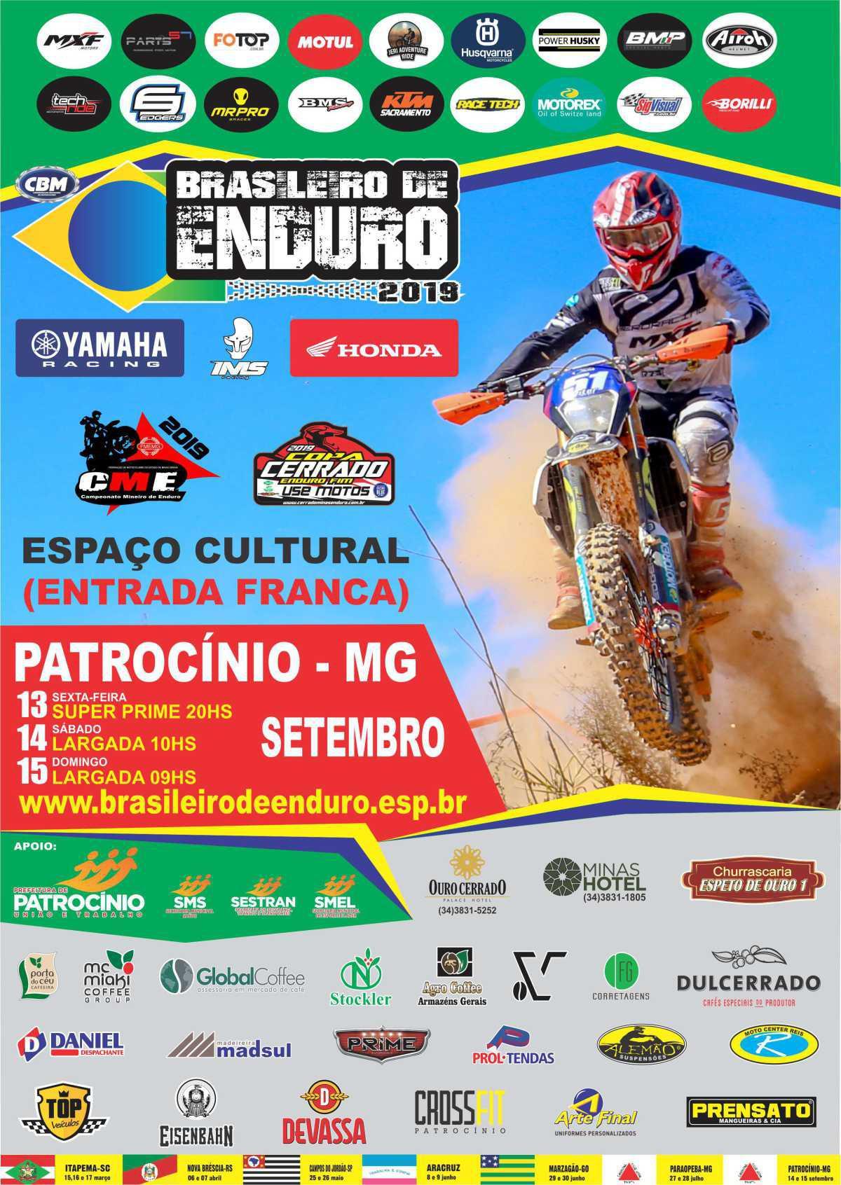 Entenda a situação do Campeonato Brasileiro de Enduro FIM. Última etapa acontece dias 13, 14 e 15 de setembro em MG.