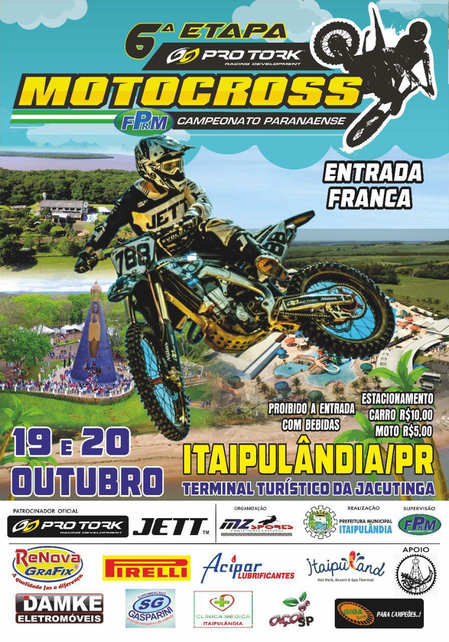 Grande expectativa para a penúltima etapa do Pro Tork Paranaense de Motocross