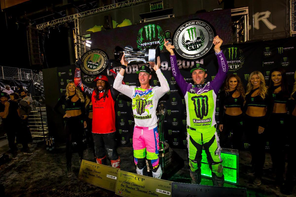 Adam Cianciarulo vence o Monster Energy Cup Championship de 2019 na estreia na classe 450SX