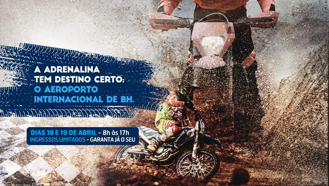 Aeroporto internacioanl de BH recebe abertura dos campeonatos Brasileiro e Mineiro de motocross.