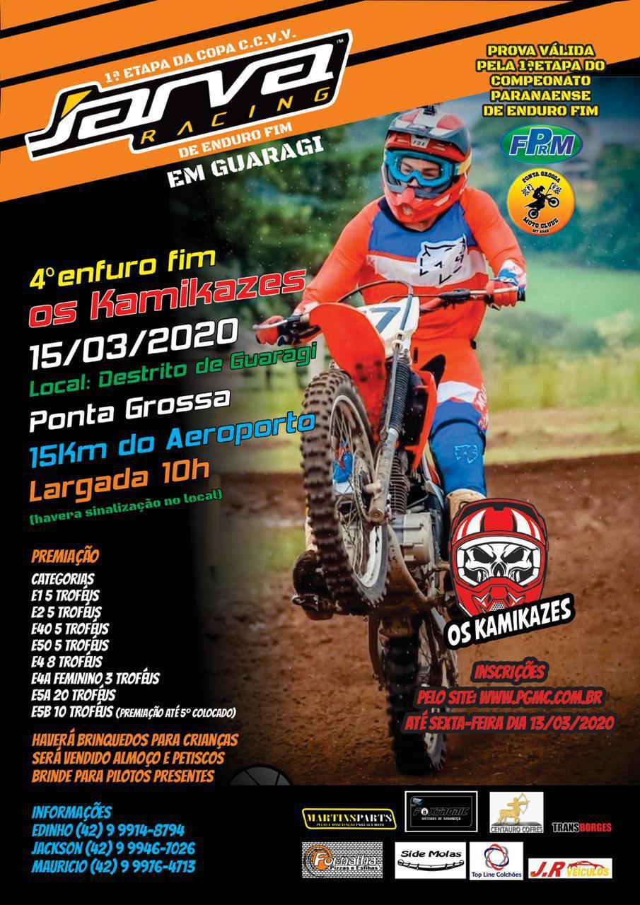 Tudo pronto para a abertura do Paranaense de Enduro FIM, em Ponta Grossa