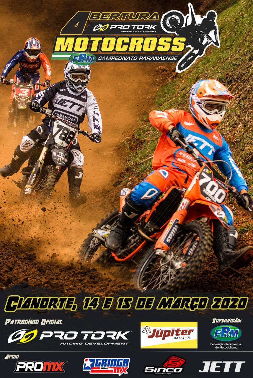 Melhores equipes do país confirmadas na abertura do Pro Tork Paranaense de Motocross