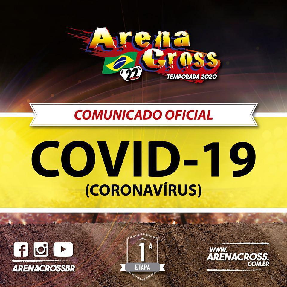 NOTA OFICIAL: Arena Cross tem sua estreia adiada por conta do Covid-19.