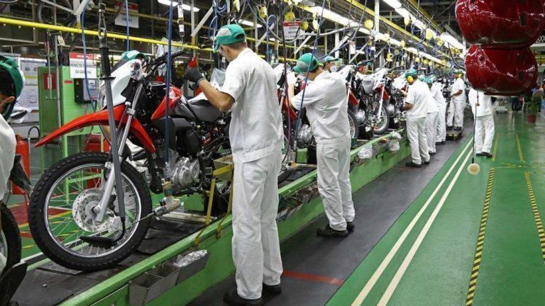 Produção de motocicletas no país tem queda de 85% em maio