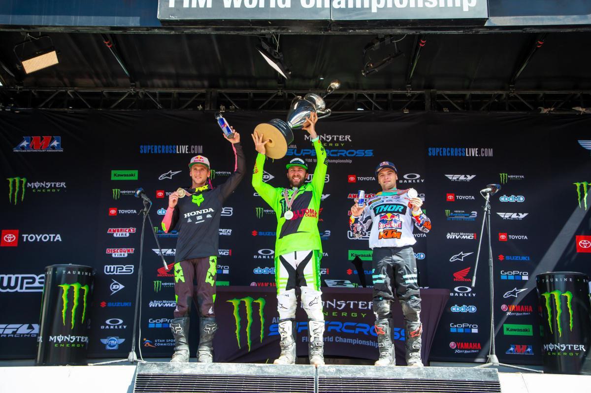 Tomac conquista primeiro campeonato 450SX, Osborne conquista primeira vitória no 450SX