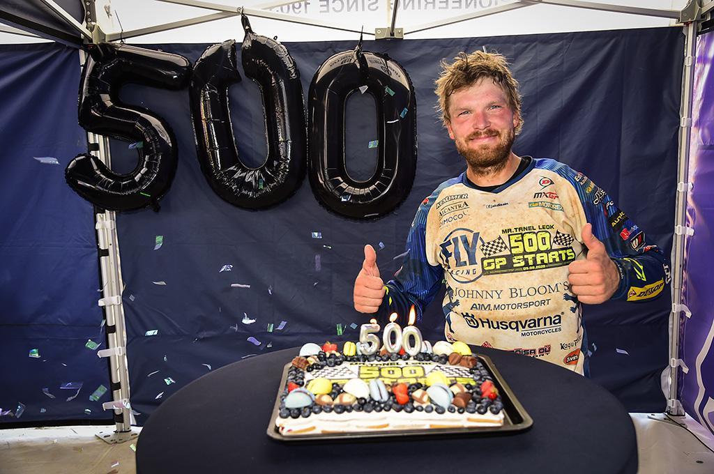 Tanel Leok disputou 500 baterias no Mundial de Motocross
