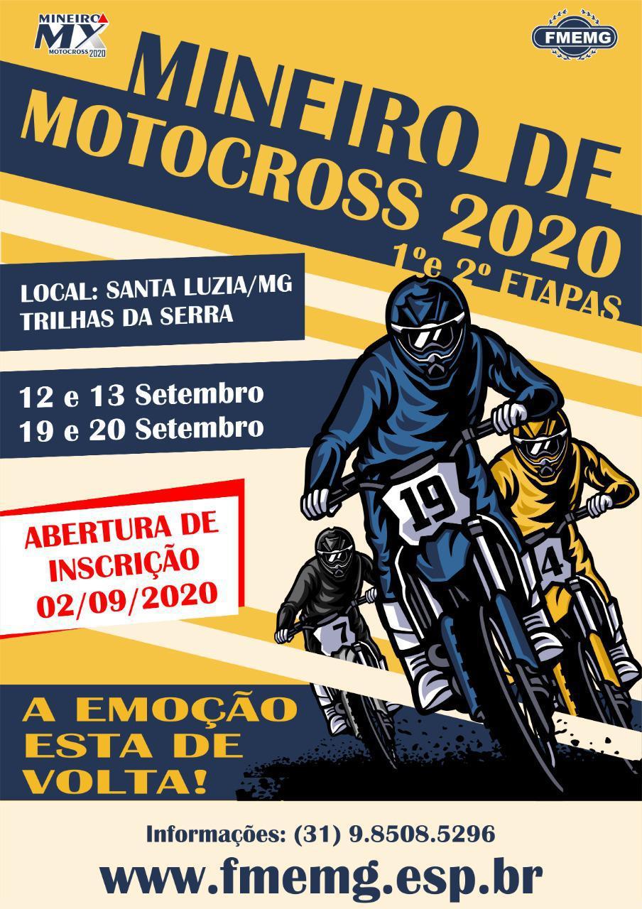 A emoção está de volta no Campeonato Mineiro de Motocross 2020.