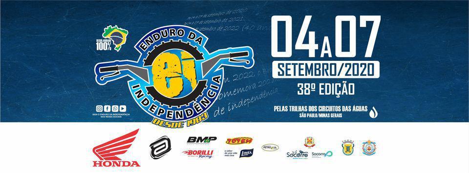 38º Enduro da Independência 3 a 7 de Setembro.