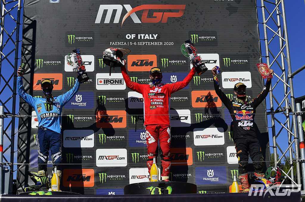Herlings e Renaux sobem ao degrau mais alto do pódio no MXGP da Itália