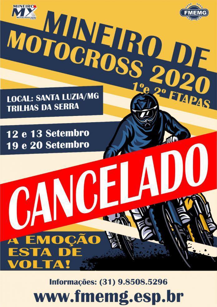 ATENÇÃO! Canceladas as etapas de abertura do Campeonato Mineiro de MX 2020.