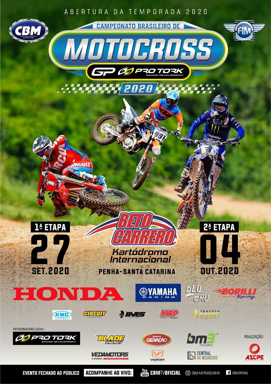 Abertas as inscrições para 1ª e 2ª etapas do Campeonato Brasileiro de Motocross