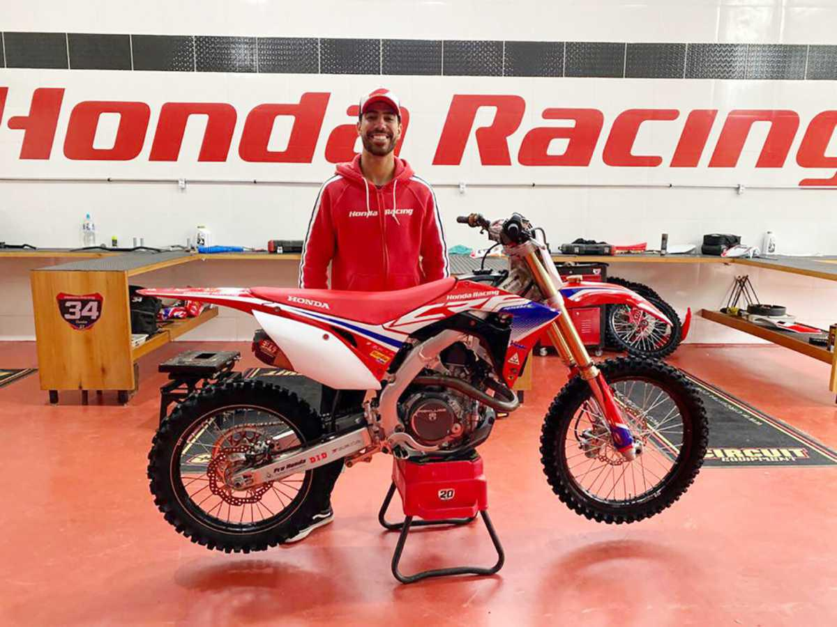 Honda Racing anuncia Anthony Rodriguez na equipe oficial para abertura do Brasileiro de Motocross, em Penha (SC)