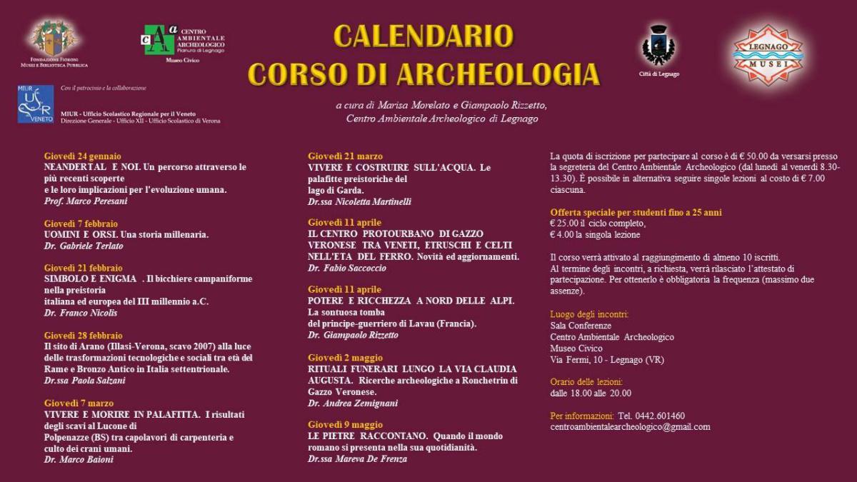 Corso di Archeologia 2019