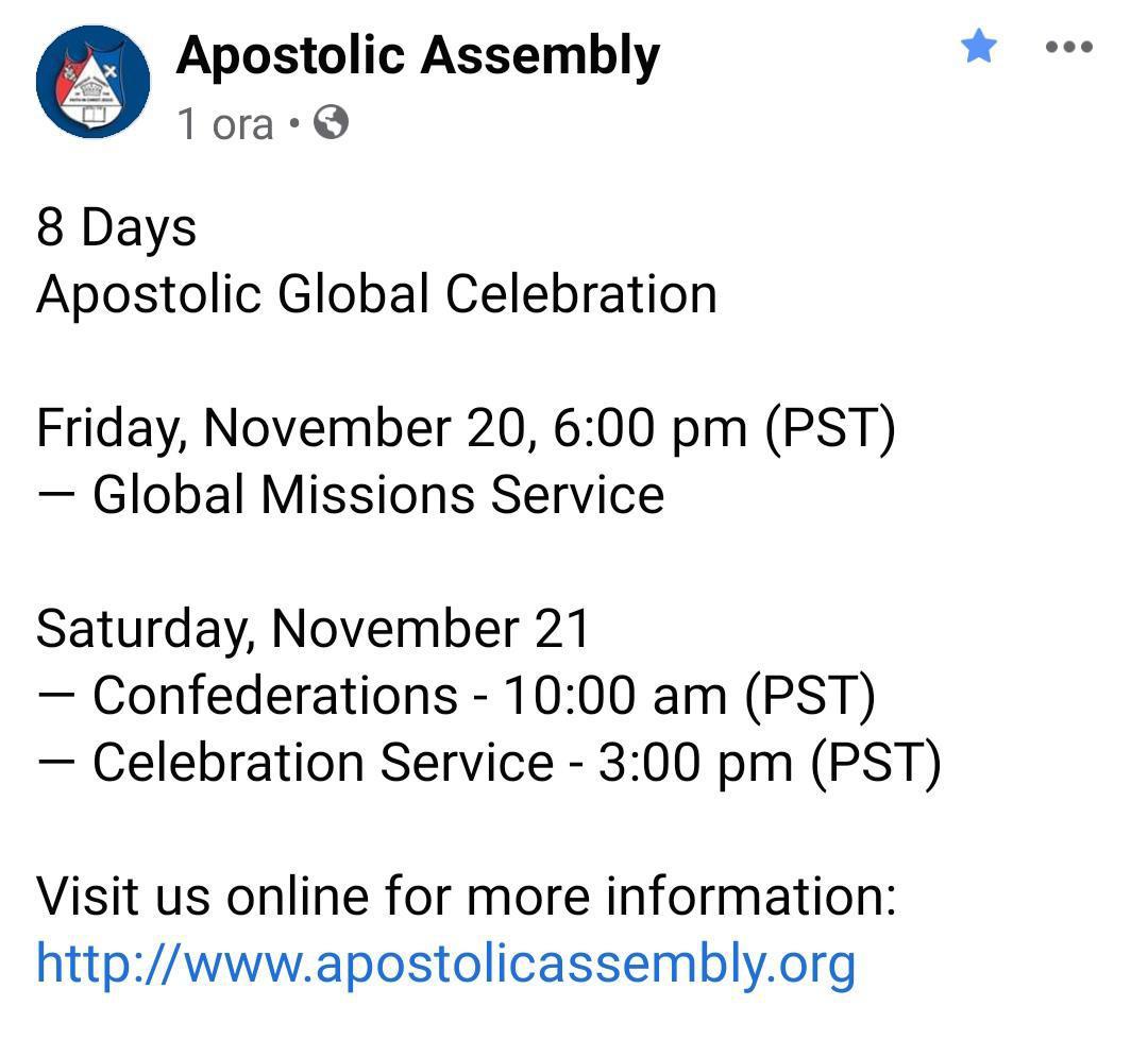 Oggi - Venerdì, 13 Novembre 2020