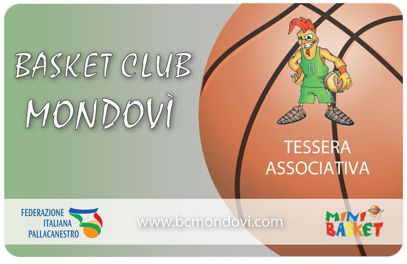 La tessera del Basket Club Mondovì