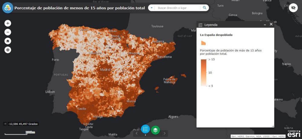 Los mapas de la España vacía - Villarmentero de Campos, el municipio que más población ha perdido en el último año en España: casi un 44%