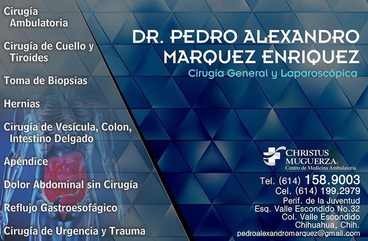 Dr. Pedro Alexandro Marquez Enriquez