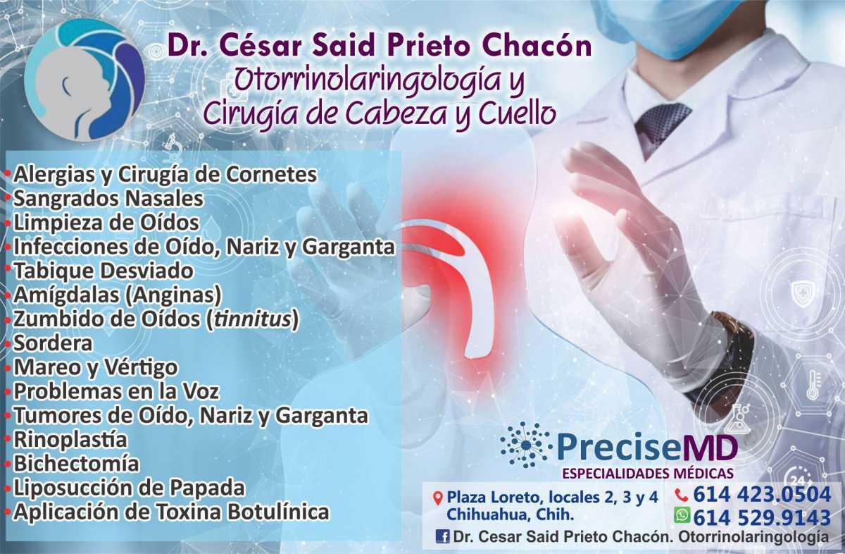 Dr. César Said Prieto Chacón