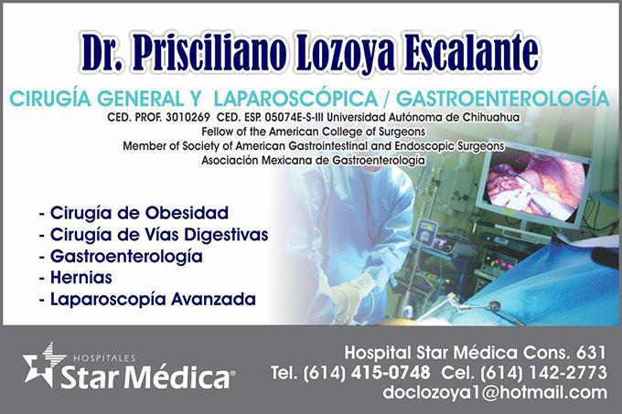 Dr. Prisciliano Lozoya Escalante