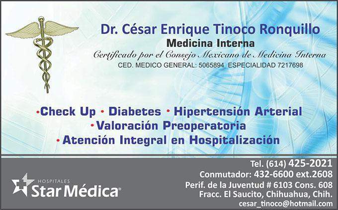 Dr. César Enrique Tinoco Ronquillo
