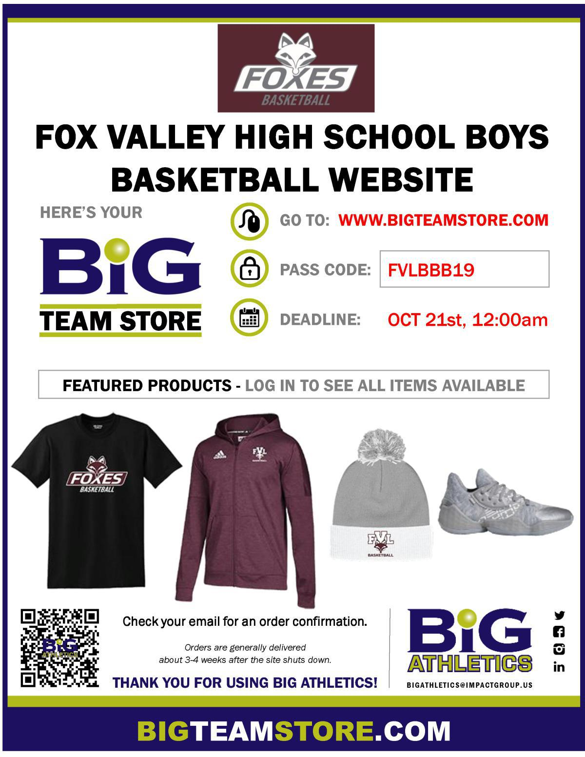 Due Oct 21 - Basketball Online Store