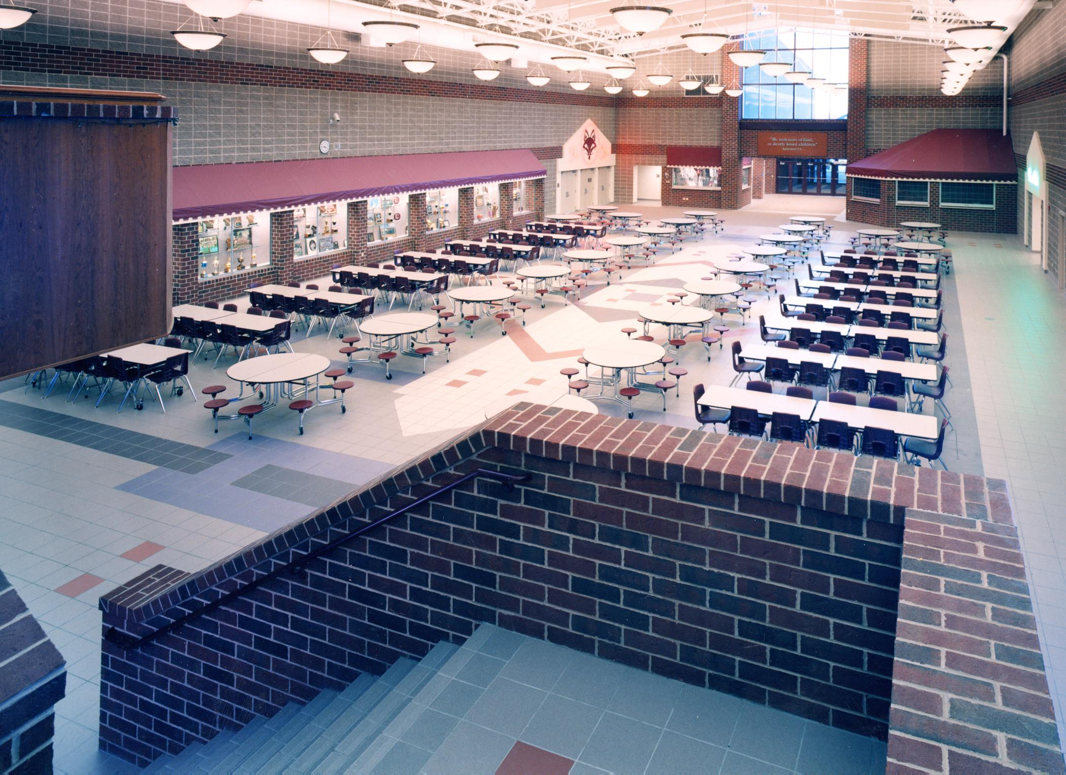 Commons (cafeteria) from above
