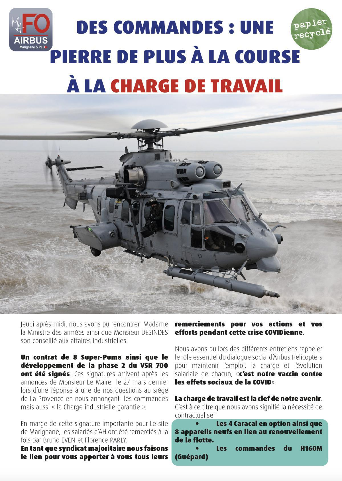 Florence Parly relance Airbus Helicopters...