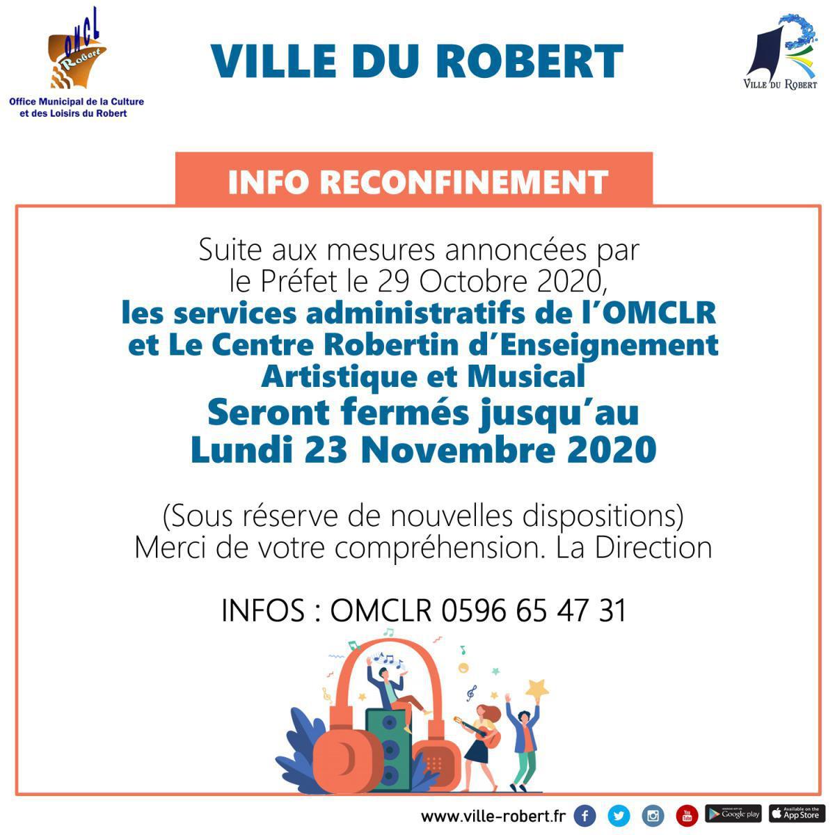 INFO RECONFINEMENT : LES MESURES DE L'OMCLR