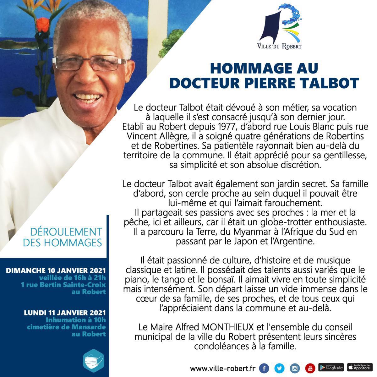 HOMMAGE AU DOCTEUR PIERRE TALBOT