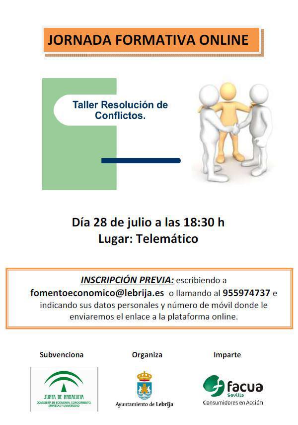 Jornada telemática sobre resolución de conflictos el próximo 28 de julio