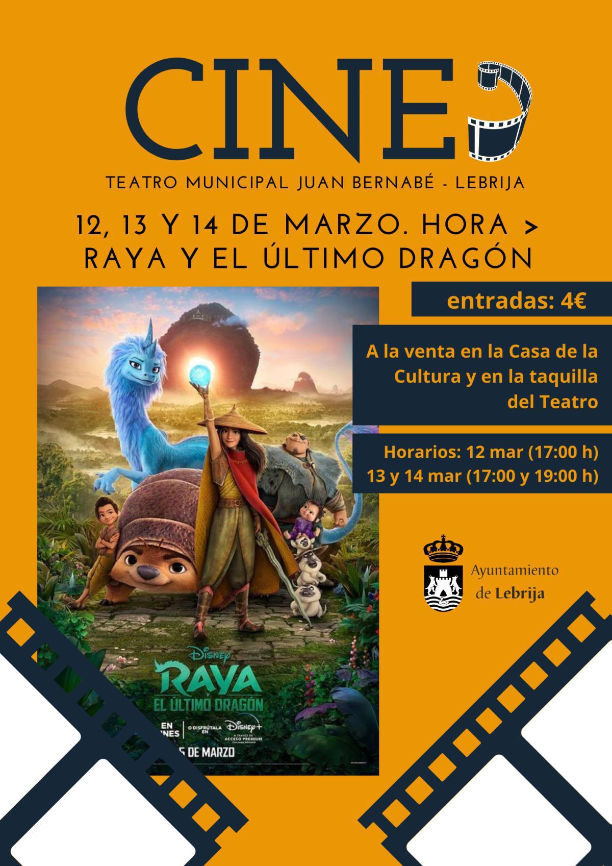 """Este fin de semana se proyectará en el Teatro Municipal Juan Bernabé la película """"Raya y el último dragón"""""""
