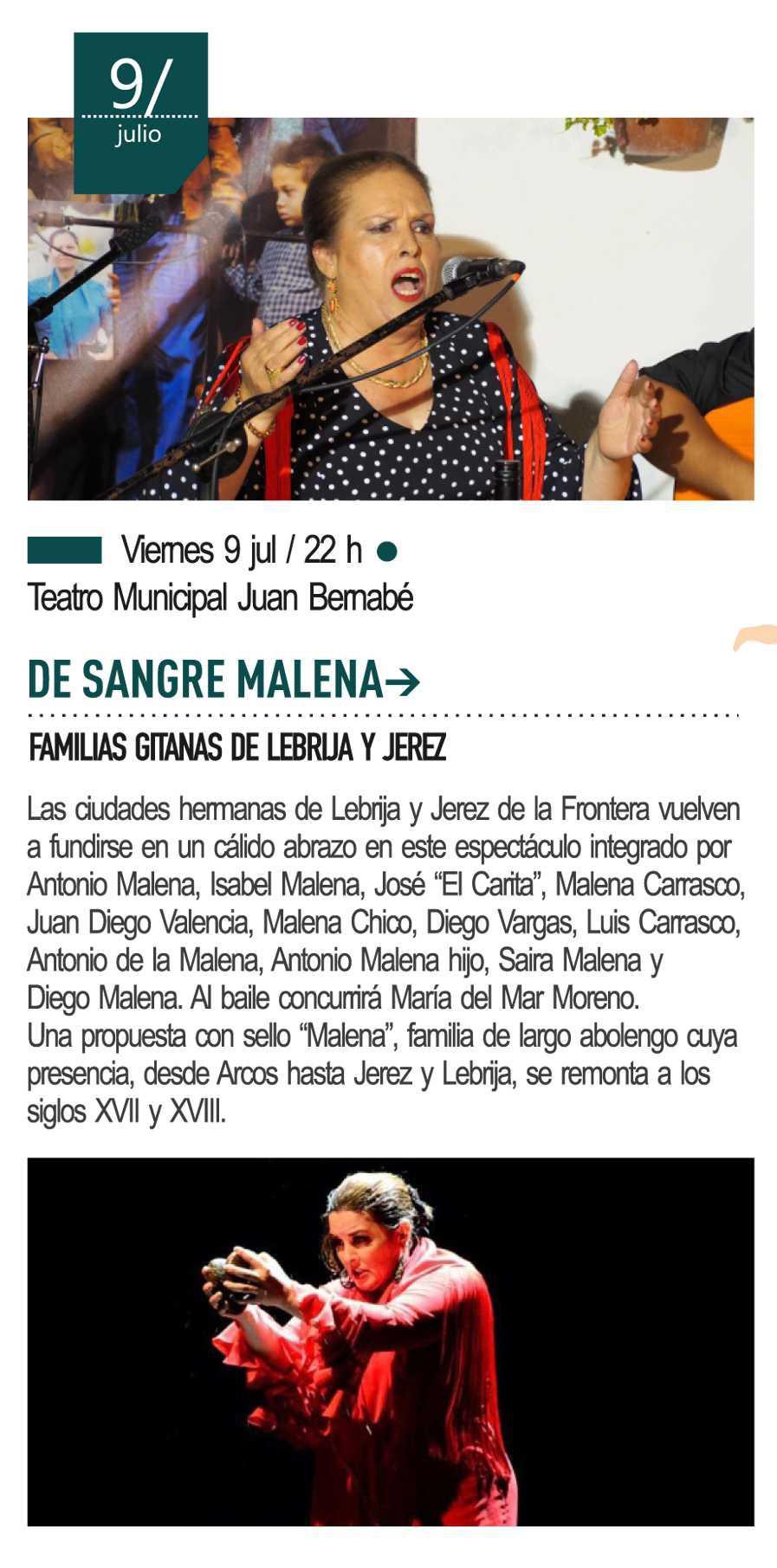 9 de julio - De sangre Malena, familias gitanas de Lebrija y Jerez