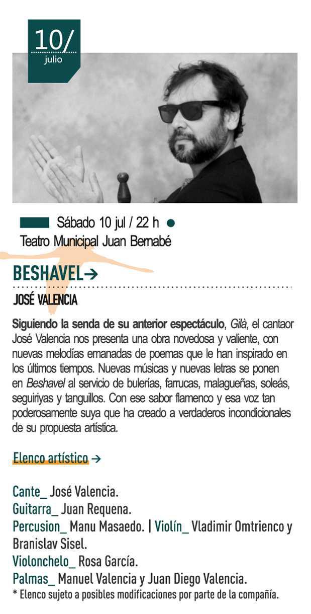 10 de julio José Valencia presentará Beshavel