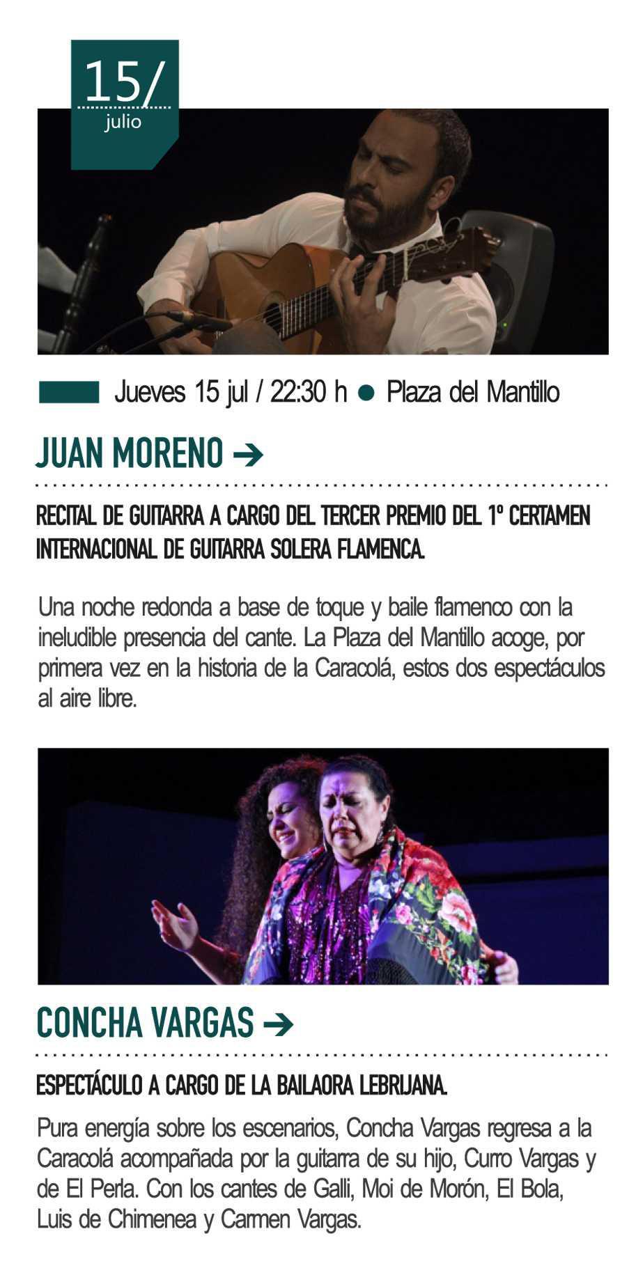 15 de julio - Espectáculo de Concha Vargas