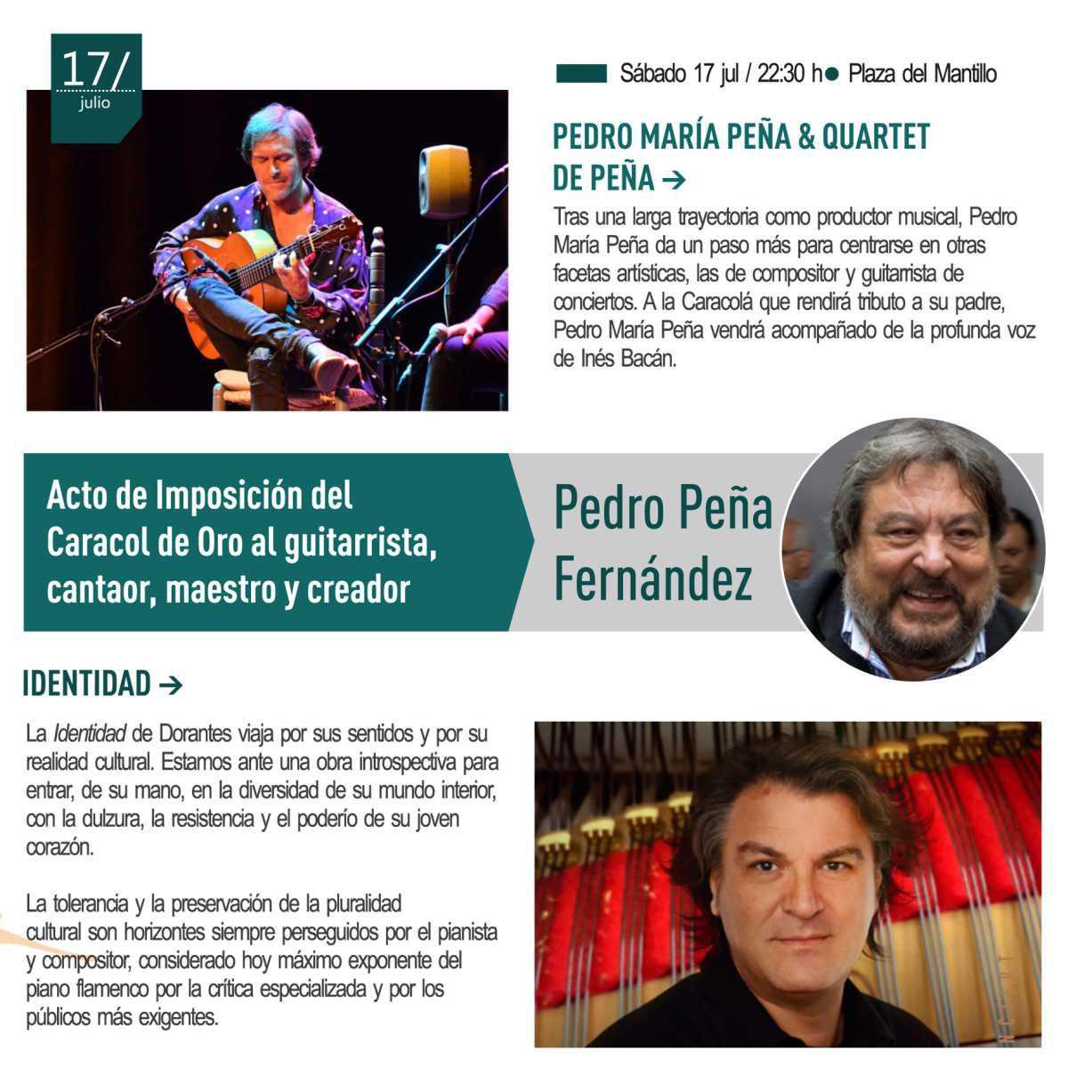 17 julio - Imposición Caracol de Oro a Pedro Peña // Pedro María Peña y Dorantes