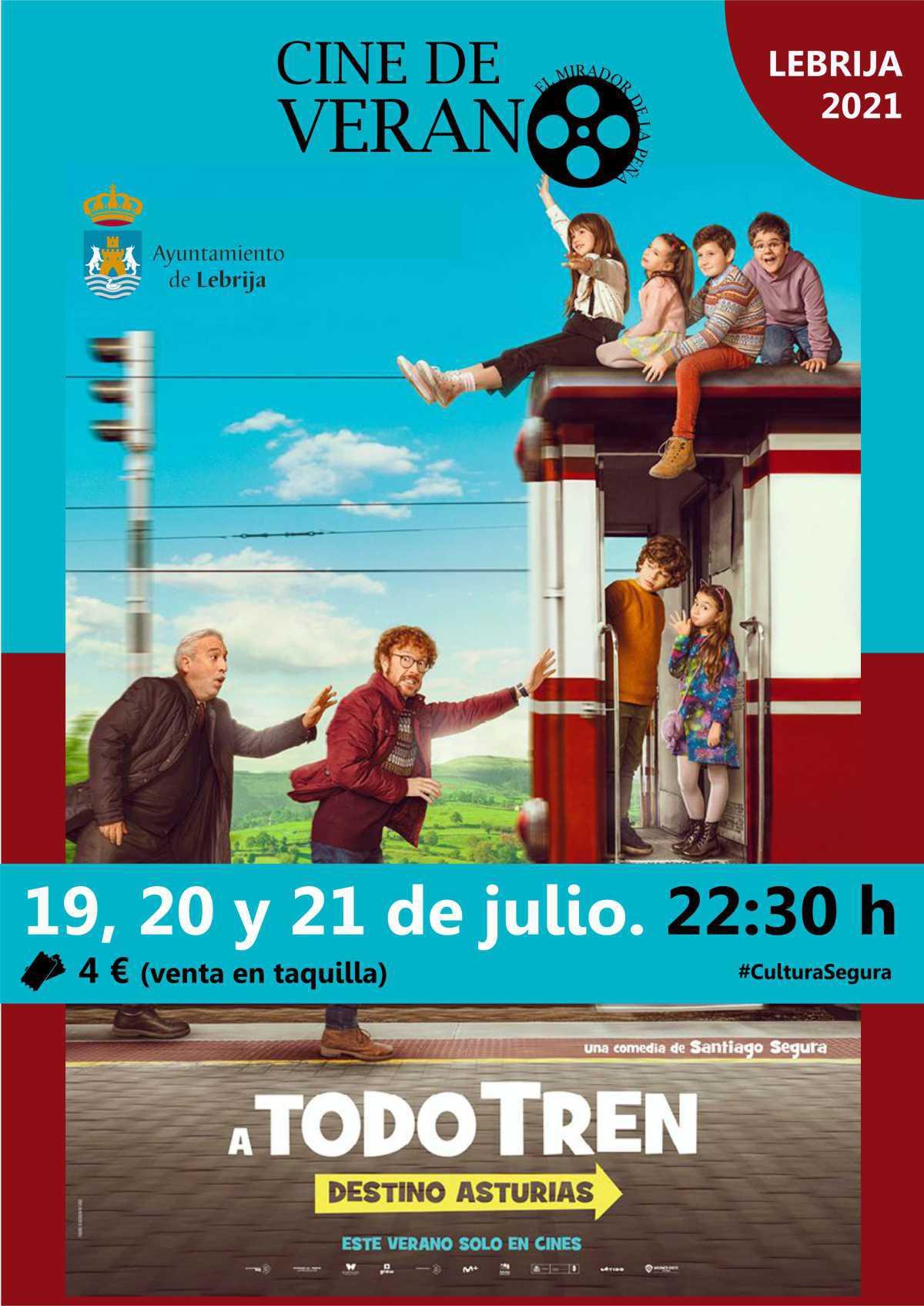 A todo tren. Destino Asturias. Entradas: 4 € a la venta en la taquilla / Mirador de la Peña. Horario: 22:30 horas.