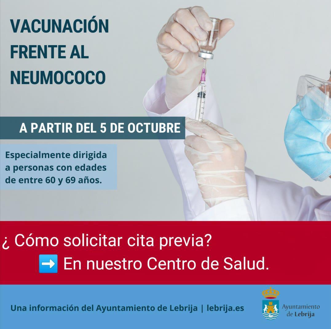 Este martes se inicia el programa de vacunación frente a neumococo a personas de 60 a 69 años en nuestra ciudad