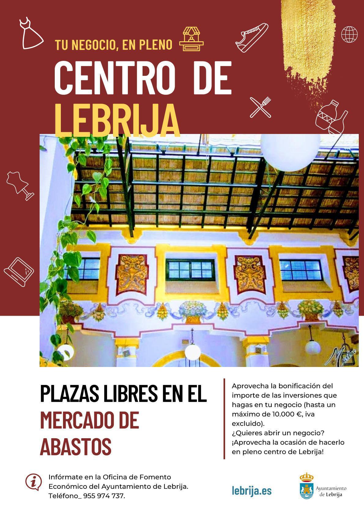 Salen a licitación 12 puestos comerciales disponibles en el Mercado Municipal de Abastos de Lebrija