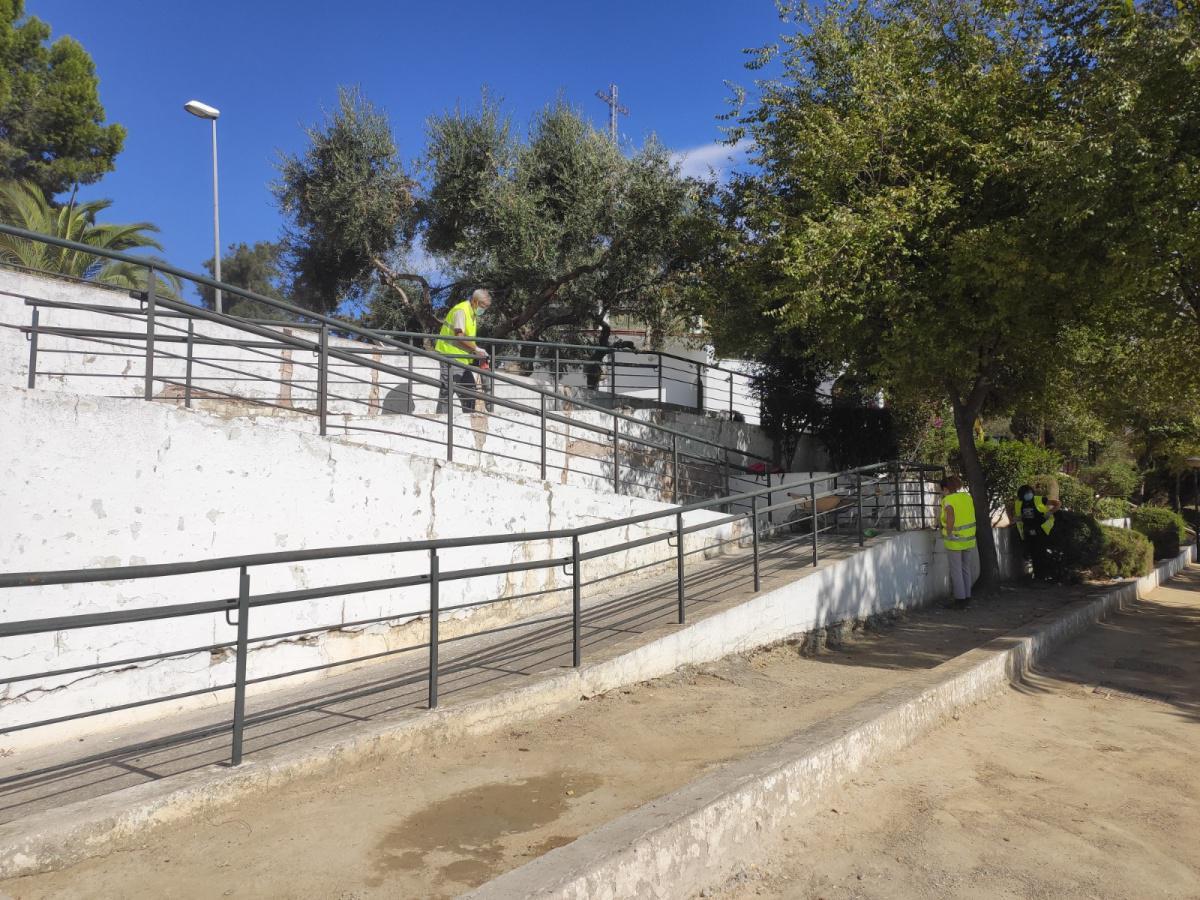 El Ayuntamiento comienza a ejecutar un proyecto de mejora de la accesibilidad en distintas zonas de Lebrija