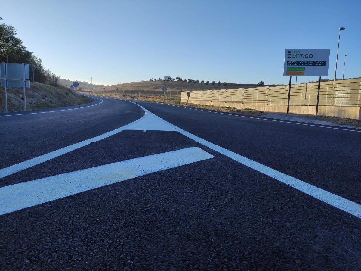 Las obras de la carretera SE-697 avanzan a buen ritmo