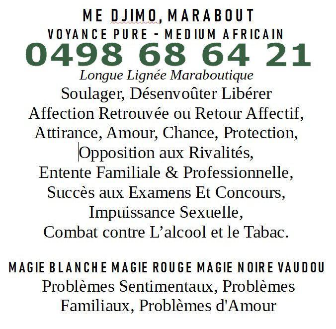 Maitre Djimo Marabout Voyance Pure Medium Africain Bruxelles