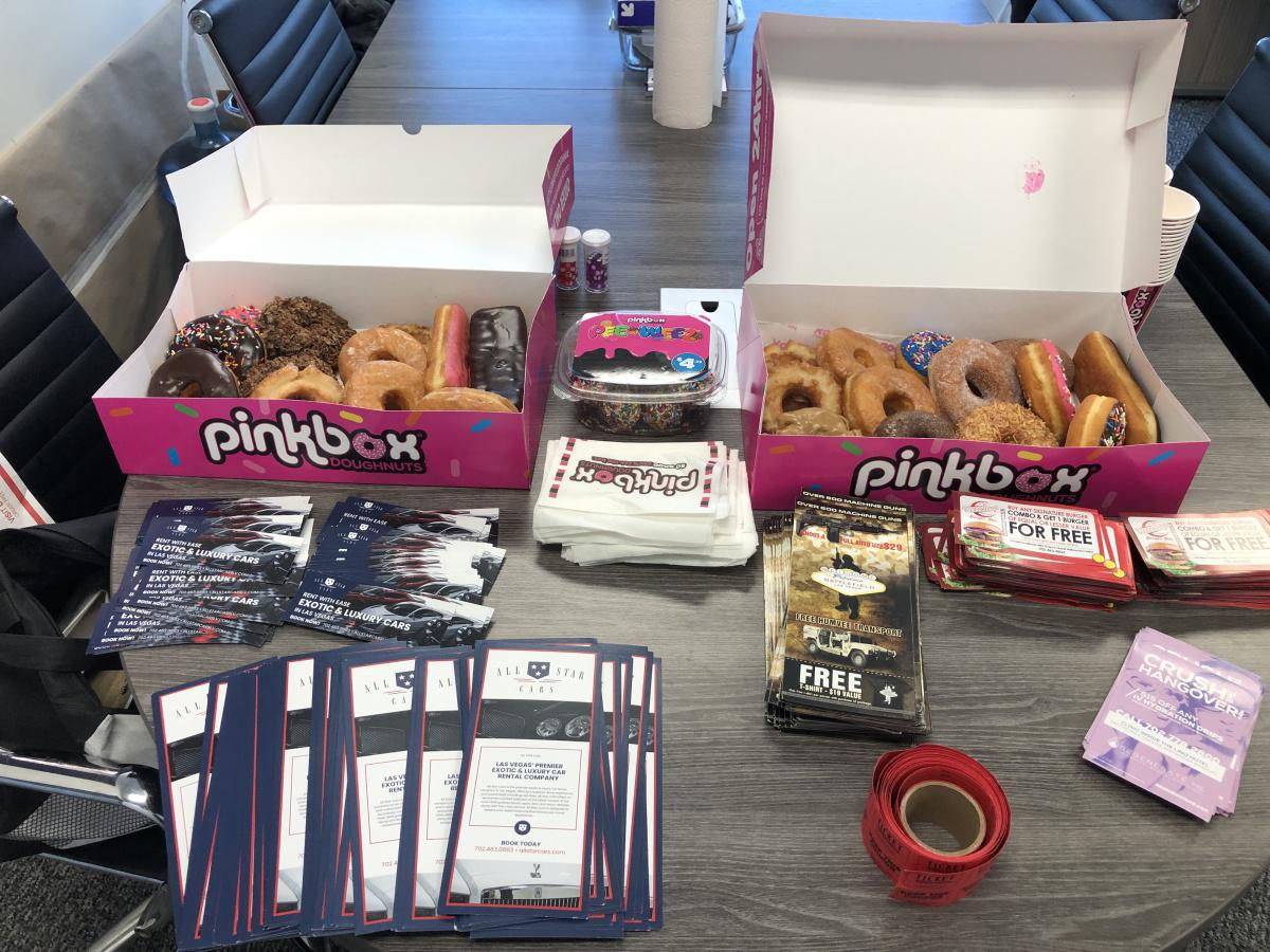 DRIVER EVENT HAPPENING NOW!!! Learn how you can earn a $150 KICKBACK!! Plus FREE chance at $50 raffle, Pinkbox doughnuts & coffee at All Star Cars Exotic & Lux rentals Tues., June 29, 11am-3pm, just west of the Strip at 4000 W. Ali Baba.
